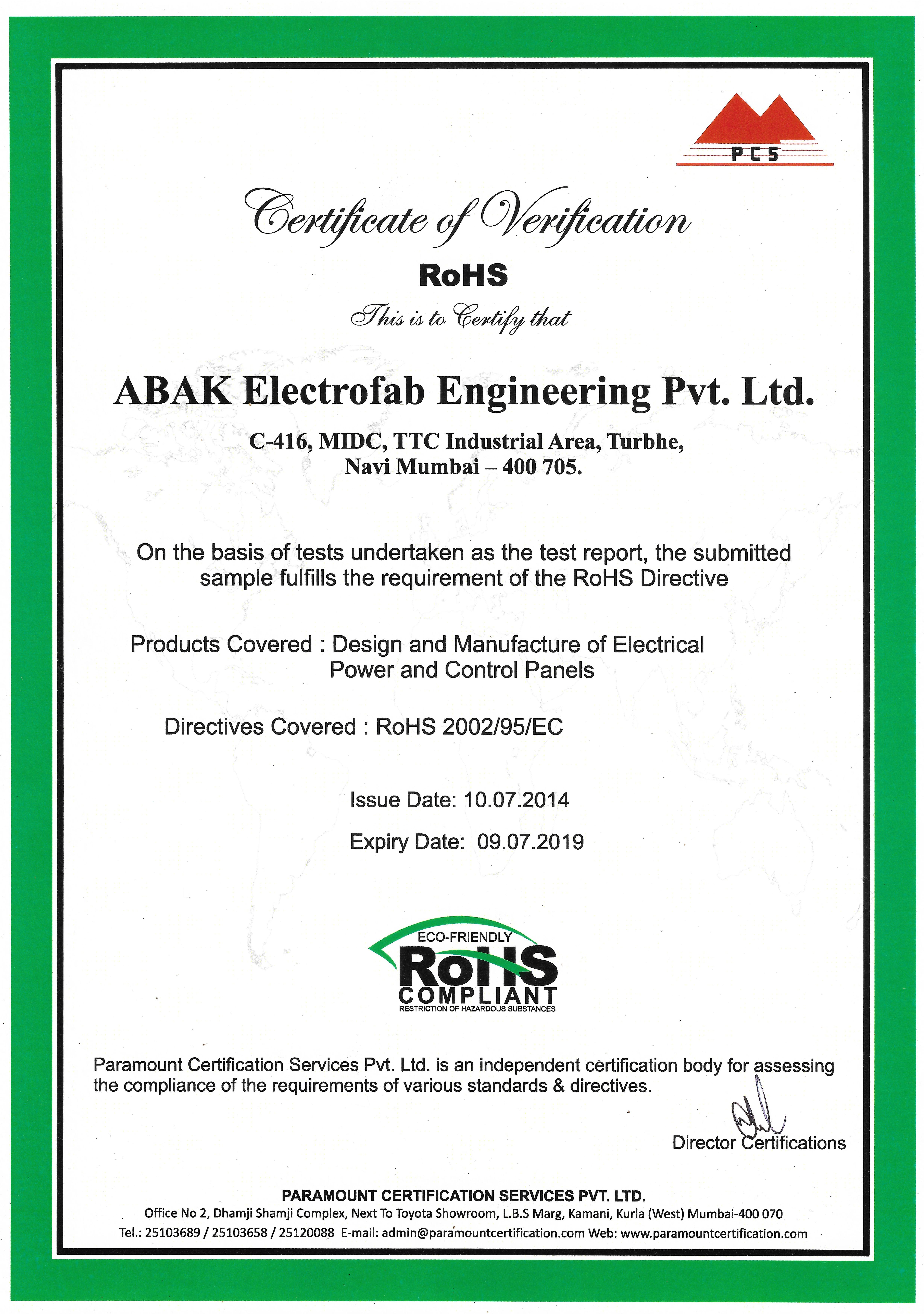 Certificates abak electrofab engineering view certificate 1betcityfo Choice Image